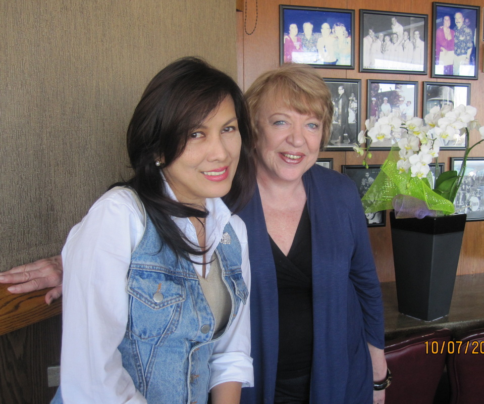 Rayla Melchor Santos with Patricia Evans